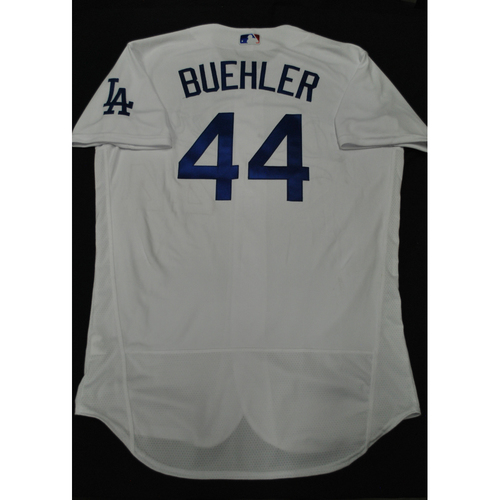 Photo of Hank Aaron Chasing the Dream Foundation: Walker Buehler 2021 MLB All-Star Workout Day BP-Worn # 44 Jersey