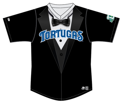 Daytona Tortugas Tuxedo Jersey #23 - Size 48 - Worn by Ryan Cardona