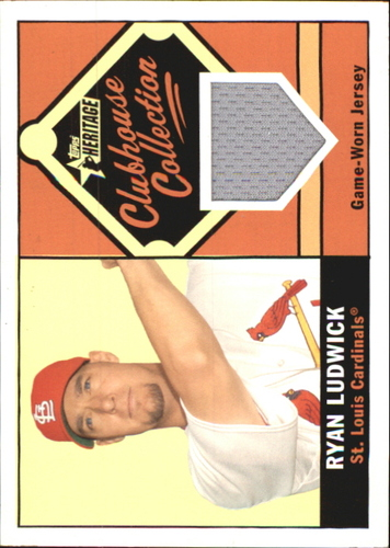 Photo of 2010 Topps Heritage Clubhouse Collection Relics #RL Ryan Ludwick