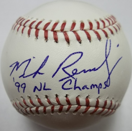 "Photo of Mike Remlinger ""99 NL Champs"" Autographed Baseball"