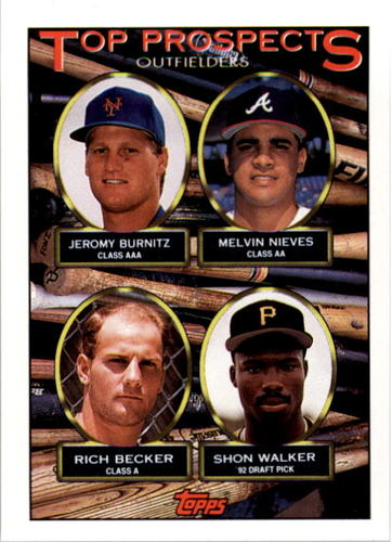 Photo of 1993 Topps #658 Jeromy Burnitz/Melvin Nieves/Rich Becker/Shon Walker RC