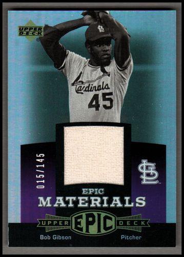 Photo of 2006 Upper Deck Epic Materials Dark Purple #BG2 Bob Gibson Pants/145