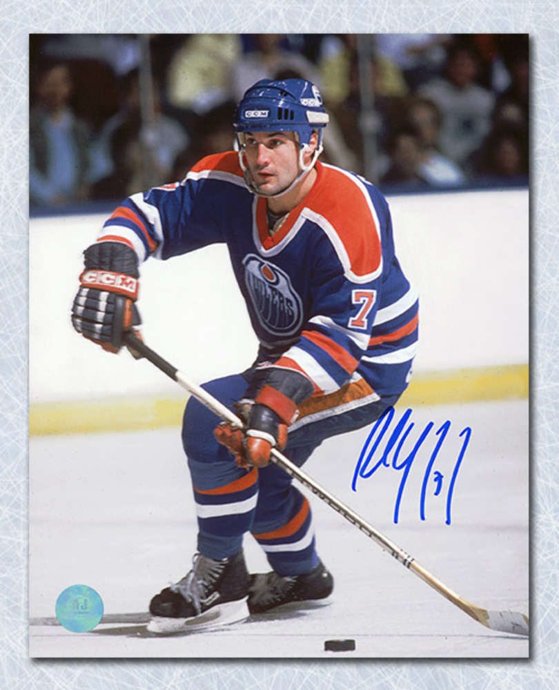 Paul Coffey Edmonton Oilers Autographed Hockey Magician 16x20 Photo