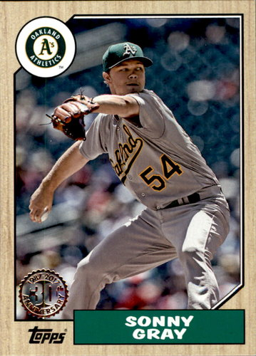 Photo of 2017 Topps '87 Topps #8787 Sonny Gray