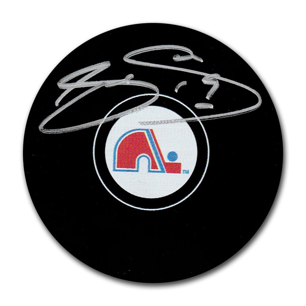 Joe Sakic Autographed Quebec Nordiques Puck