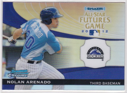 Photo of 2012 Bowman Chrome Futures GameA Nolan Arenado