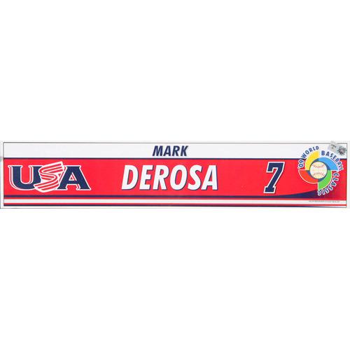 Photo of 2009 WBC: USA Game-Used Locker Name Plate - #7 Mark DeRosa
