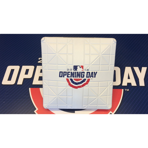 Photo of Opening Day Game-Used Base (Marlins vs Cubs 3/29/18)