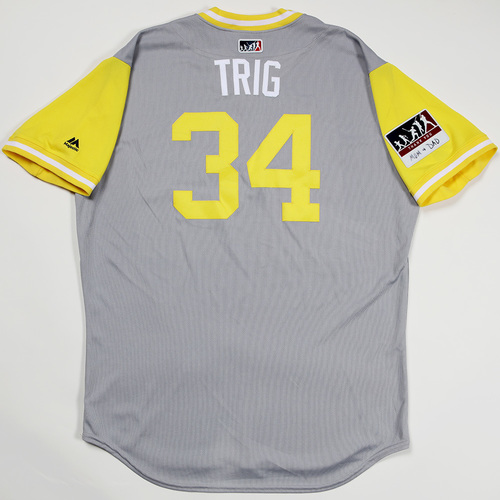 "Photo of Craig ""Trig"" Stammen San Diego Padres Game-Used 2018 Players' Weekend Jersey"