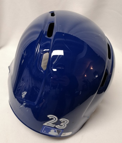 Photo of Authenticated Team Issued Helmet - #23 Dalton Pompey (2018 Season). Size 7 3/8.