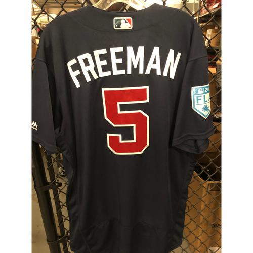 Freddie Freeman Game Used Spring Training Jersey