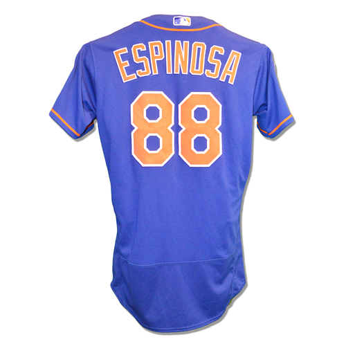 Photo of Danny Espinosa #88 - Game Used Blue Alt. Home 2019 Spring Training Jersey - Mets vs. Astros - 2/24/2019
