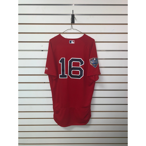 Andrew Benintendi Team-Issued 2018 World Series Home Alternate Jersey
