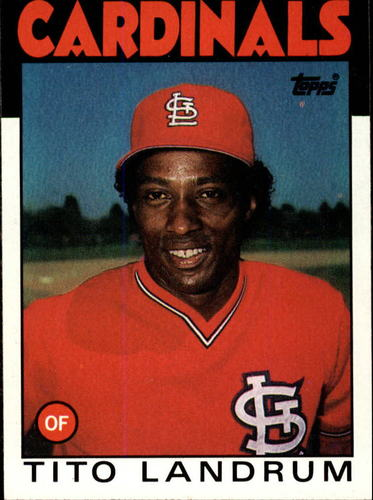 Photo of 1986 Topps #498 Tito Landrum