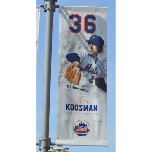 Photo of Jerry Koosman #36 - Citi Field Banner - 2019 Season