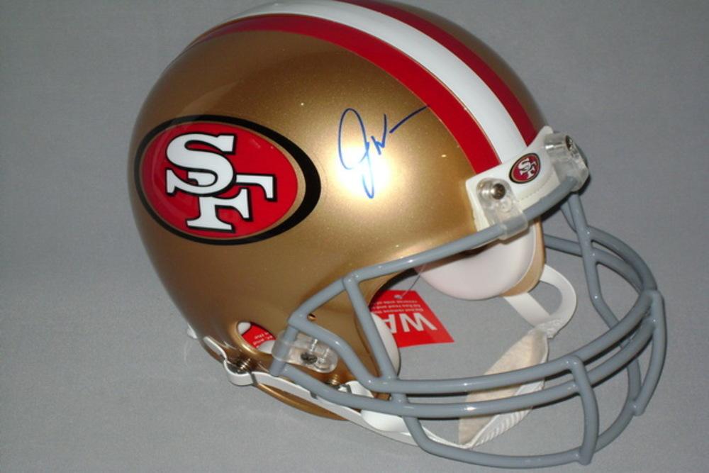NFL - 49ERS JOE WILLIAMS SIGNED 49ERS PROLINE HELMET