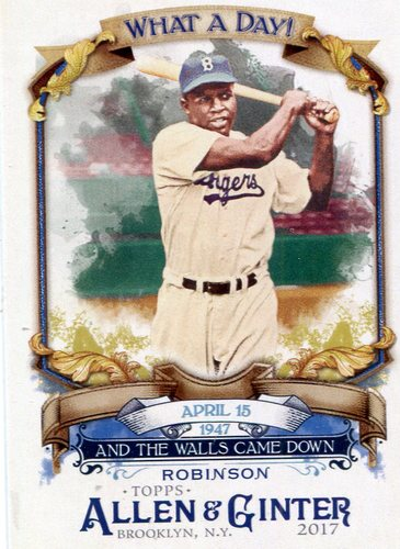 Photo of 2017 Topps Allen and Ginter What a Day #WAD90 Jackie Robinson