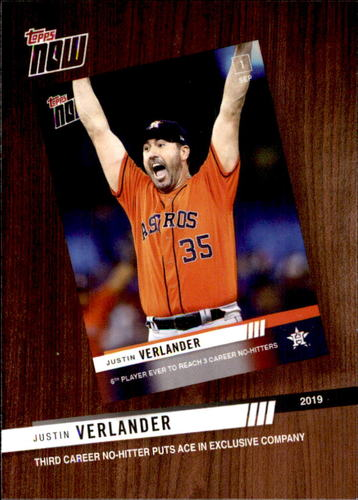 Photo of 2020 Topps '19 Topps Now Review #TNR10 Justin Verlander