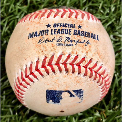 Photo of Game Used Baseball: J.D. Martinez single off Charlie Morton - September 13, 2020 v BOS