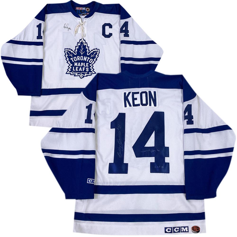 Ken Dryden, Dave Keon & Bobby Baun Autographed Toronto Maple Leafs Jersey