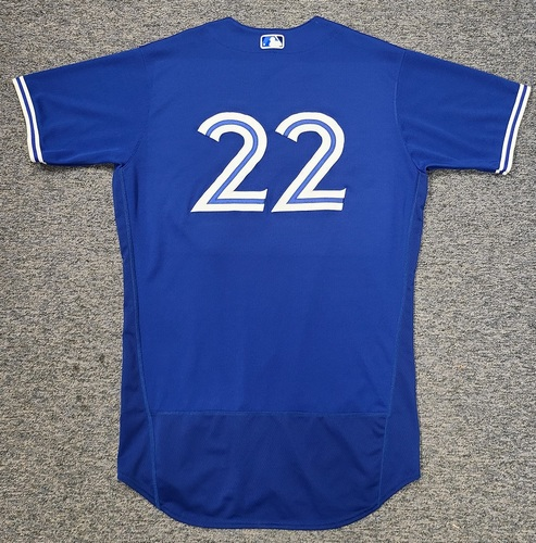 Photo of Authenticated Team Issued Spring Training Jersey: #22 Steven Matz (2021 Season). Size 46.