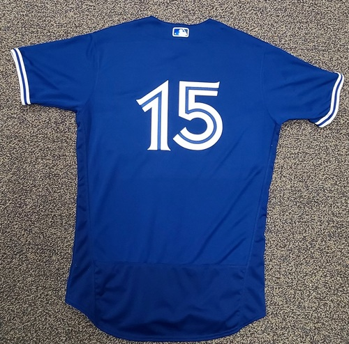 Photo of Authenticated Team Issued Spring Training Jersey: #15 (2021 Season). Size 44.