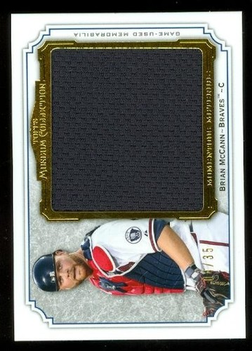 Photo of 2012 Topps Museum Collection Momentous Material Jumbo Relics Gold 35 #BM Brian McCann