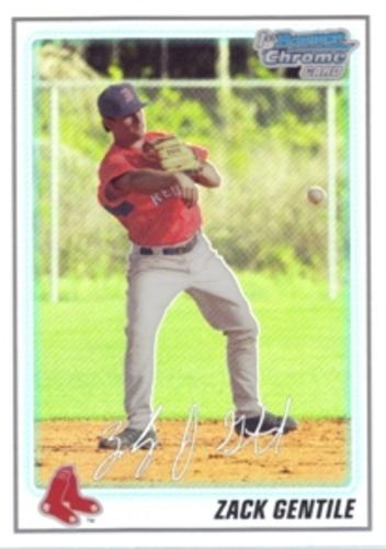 Photo of 2010 Bowman Chrome Prospects Refractors #BCP62 Zach Gentile