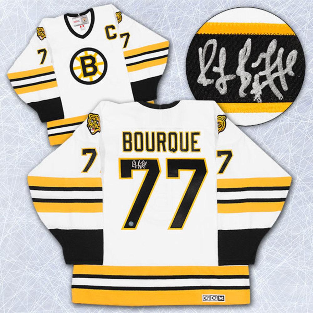 Ray Bourque Boston Bruins Autographed White Retro CCM Hockey Jersey
