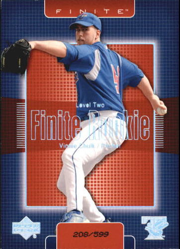 Photo of 2003 Upper Deck Finite #330 Vinnie Chulk T2
