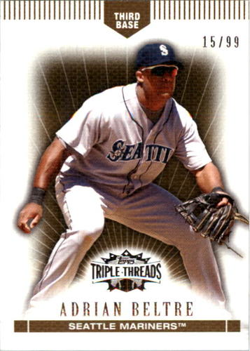 Photo of 2007 Topps Triple Threads Gold #52 Adrian Beltre