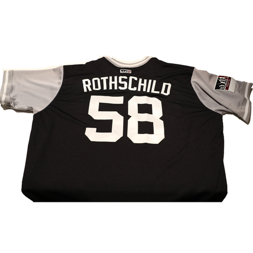 "Photo of Larry ""Rothschild"" Rothschild New York Yankees Game-Used Players Weekend Jersey"
