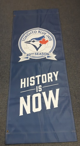 Authenticated Team Issued Banner - 2016 Home Opener (6 feet by 27 Inches)