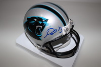 PANTHERS - MICHAEL OHER SIGNED PANTHERS MINI HELMET