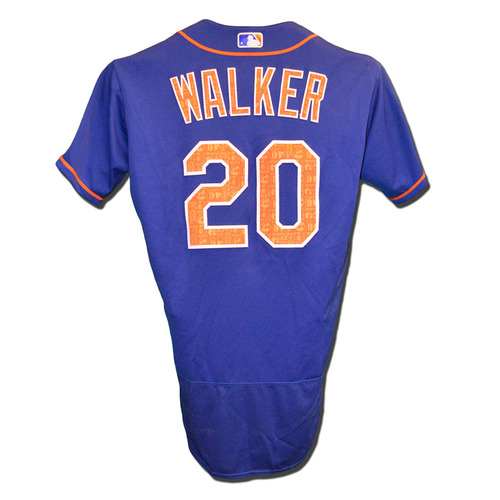 Photo of Neil Walker #20 - Team Issued Blue Spring Training Jersey - 2016 Season