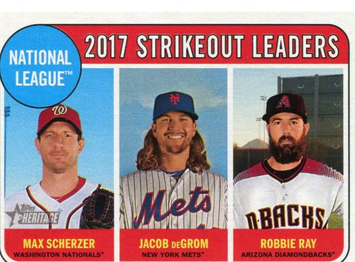 Photo of 2018 Topps Heritage #12 Robbie Ray/Max Scherzer/Jacob deGrom LL