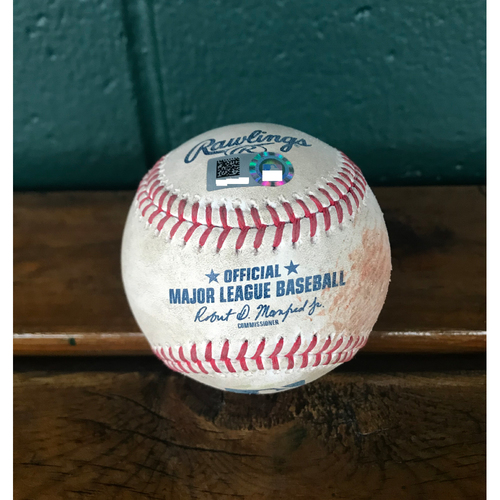 Photo of Cardinals Authentics: Game-Used Baseball Pitched by Michael Wach to Yoan Moncada * Double 2 RBI*