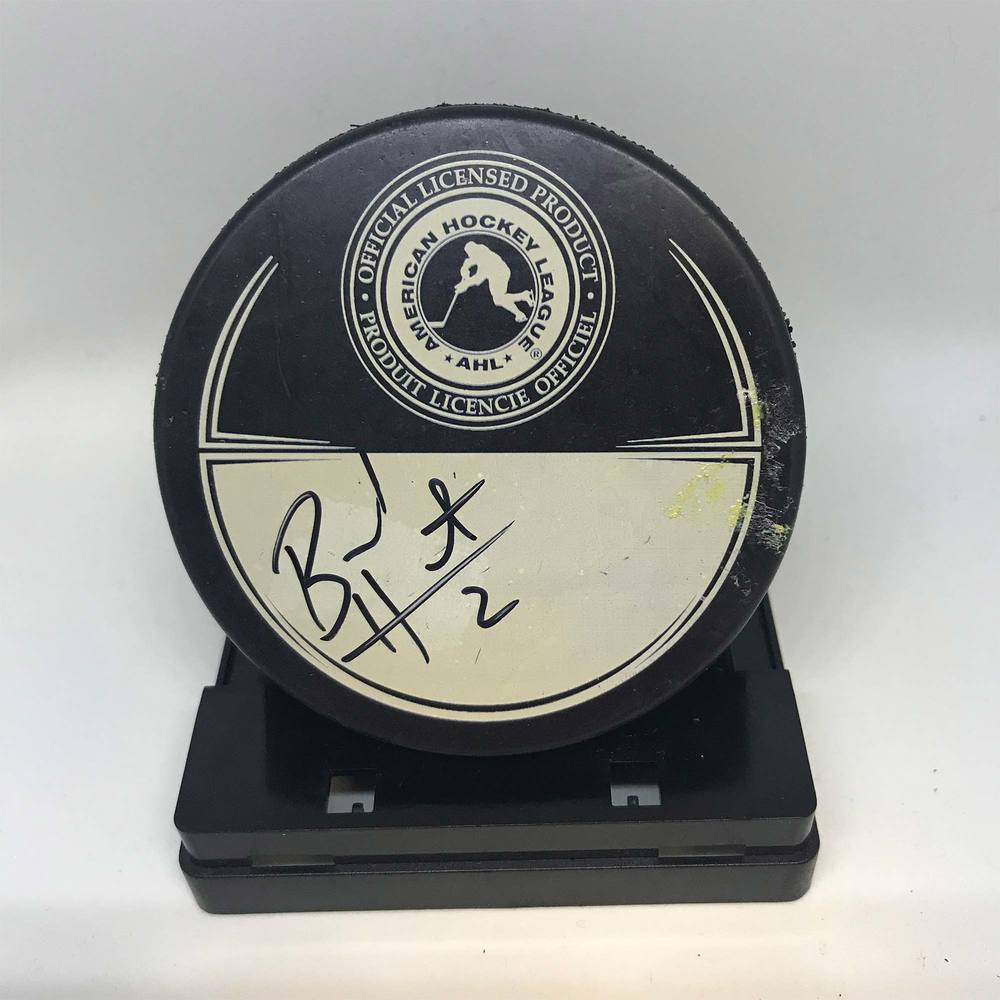 2013 Dunkin' Donuts AHL All-Star Classic Souvenir Puck Signed by #29 Brad Hunt