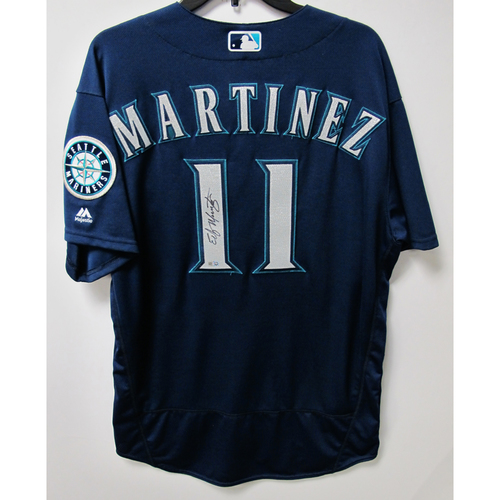 Photo of Seattle Mariners Edgar Martinez Team Issued Autographed Jersey