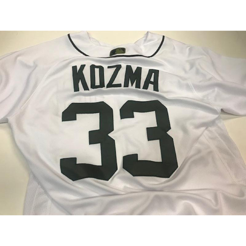 Photo of Game-Used Memorial Day Jersey: Pete Kozma