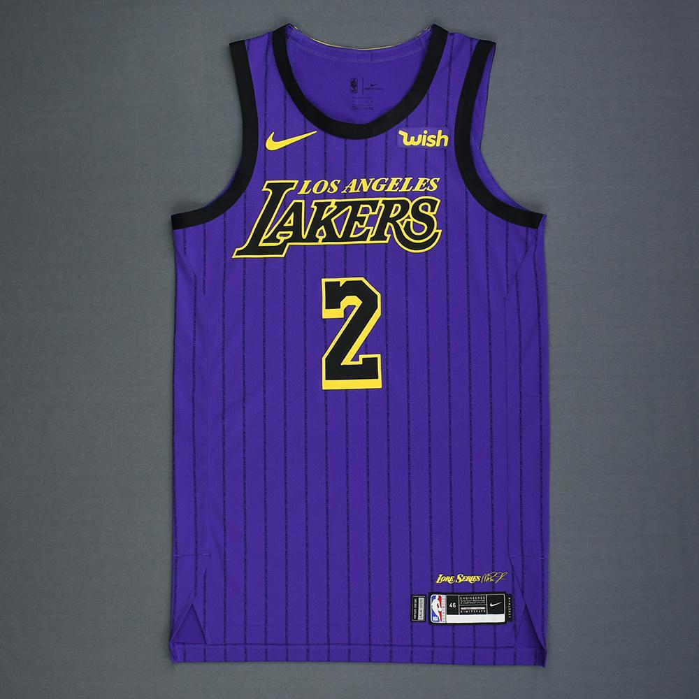 153458c5f Lonzo Ball - Los Angeles Lakers - Game-Worn City Edition Jersey - Double-