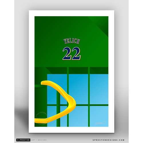Photo of Minimalist Miller Park Christian Yelich Player Series Art Print by S. Preston - Limited Edition