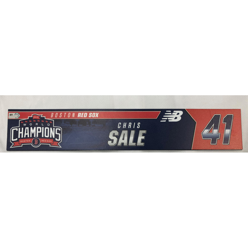 Photo of Chris Sale Game Used April 28, 2019 Locker Tag