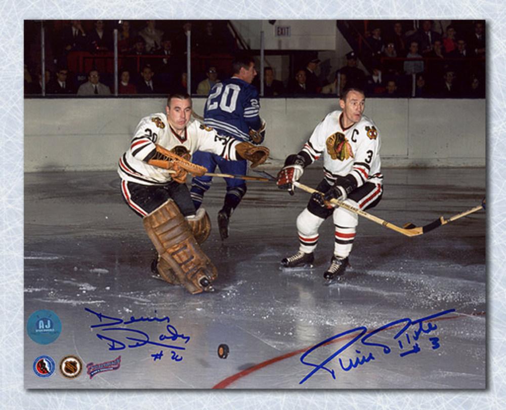 Pierre Pilote & Denis Dejordy Chicago Blackhawks Dual Signed 8x10 Photo