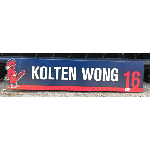 Photo of Cardinals Authentics: Kolten Wong Game-Used 2nd Half of Season Locker Tag from 2019