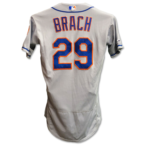 Photo of Brad Brach #29 - Game Used Road Grey Jersey - .2 IP, 0 ER, 1 K - Mets vs. Reds - 9/20/19