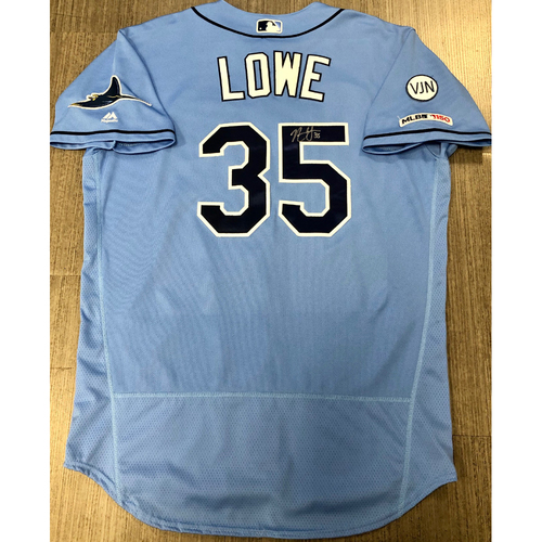 Photo of Team Issued Autographed Jersey: Nate Lowe