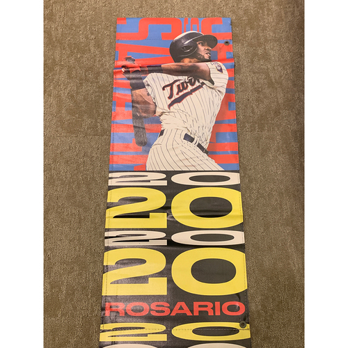 Photo of 2019 Minnesota Twins Team-Issued Street Banner - Eddie Rosario