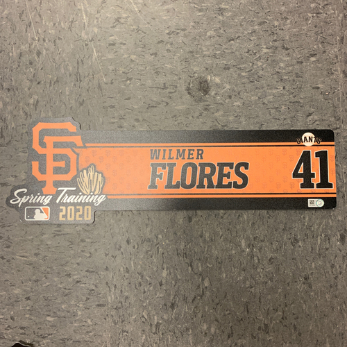 Photo of 2020 Team Issued Spring Training Locker Tag #41 Wilmer Flores