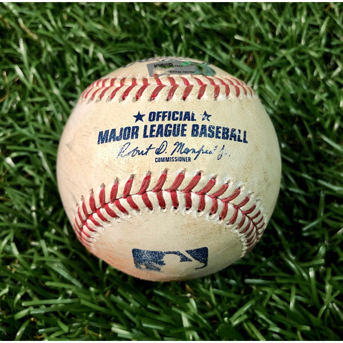 Photo of Game Used Baseball: Kevin Pillar strike out, Rafael Devers strike out and J.D. Martinez double off Ryan Yarbrough - August 5, 2020 v BOS